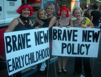 T Plibersek and V Firth with SJIEC at Mardi Gras